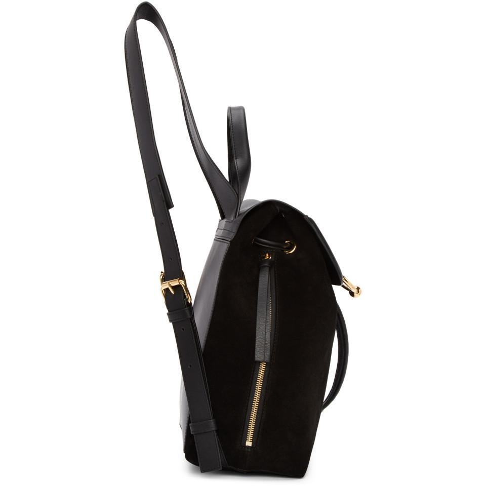 JW Anderson Black Mini Suede Pierce Backpack