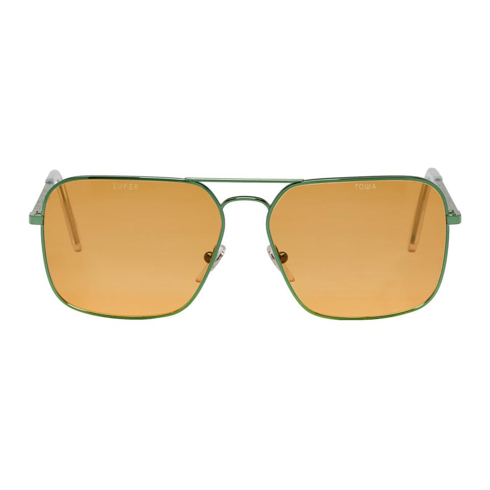 GOSHA RUBCHINSKIY Green & Super Edition Iggy Sunglasses Uyfgl