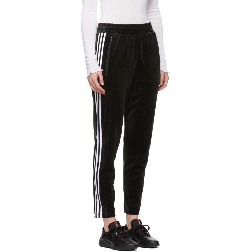 9a175829 Adidas Originals Black Velour Cozy Lounge Pants