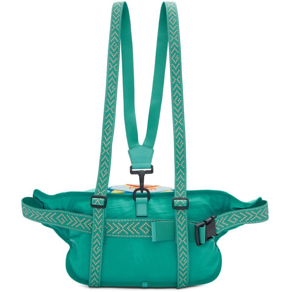d62972d9178 Gucci - Blue 80s Logo Patch Belt Bag for Men - Lyst. View fullscreen