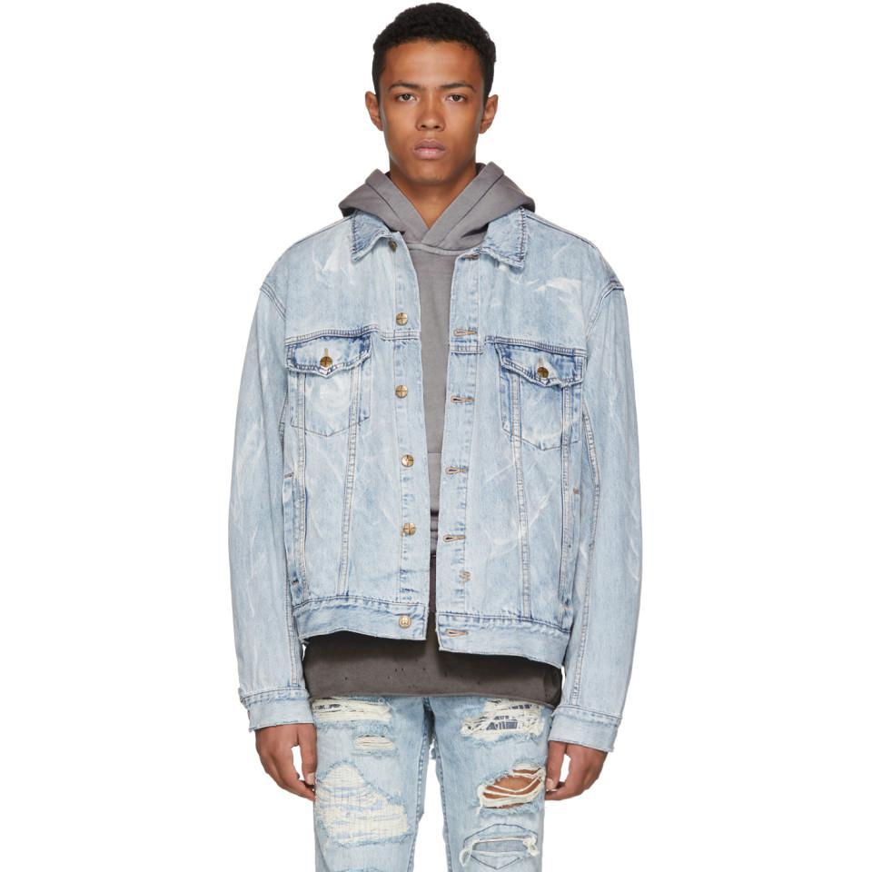 2e85dd9c26 Ksubi Blue Oh G Denim Jacket in Blue for Men - Lyst