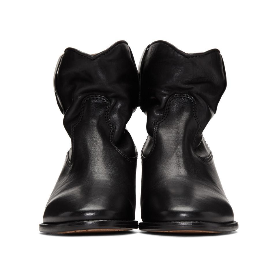 Isabel Marant Leather Black Cluster Boots