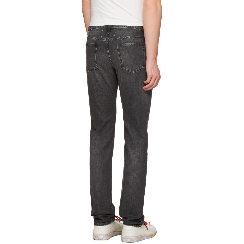 Maison Margiela Denim Black Ash Jeans for Men