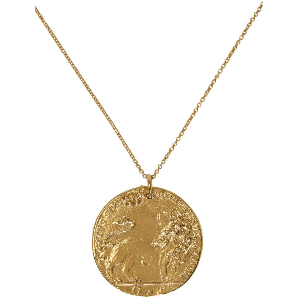 Le Collier De Pièces D'or De Lion Alighieri Ru5zcwf