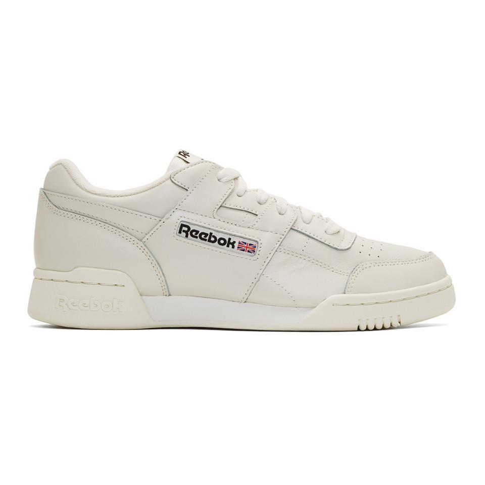 Reebok Leather Grey Workout Plus Mu Sneakers in Gray for Men
