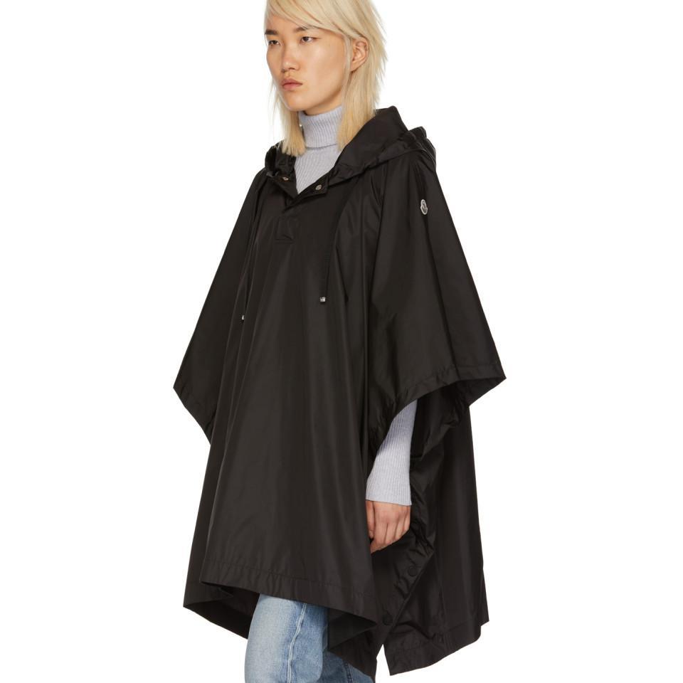 Moncler Satin Black Rain Poncho