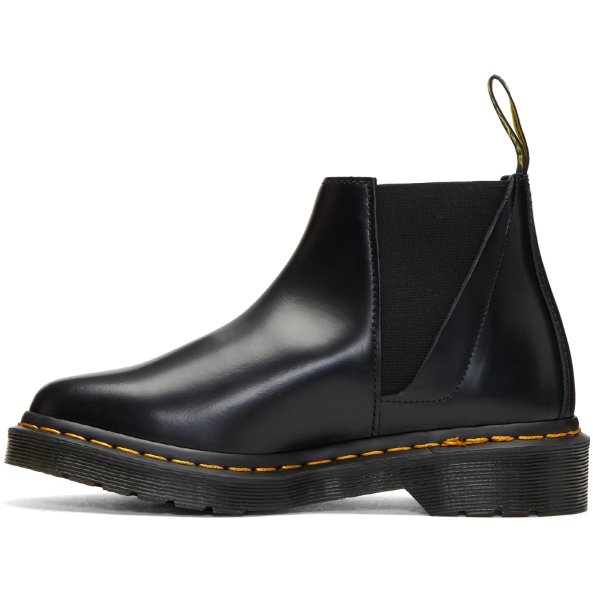 Dr. Martens Leather Bianca Chelsea Boot in Black