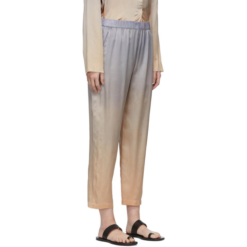 de9d392763f9c5 Raquel Allegra - Multicolor Silver Tie-dye Silk Lounge Pants - Lyst. View  fullscreen