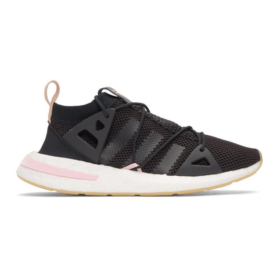 adidas Originals Leather Black And Pink