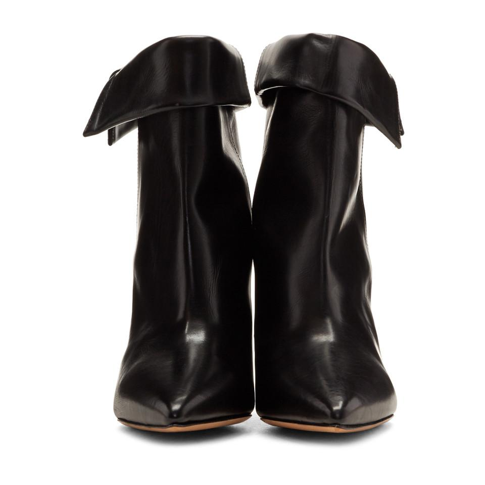 Isabel Marant Leather Black Luliana Boots