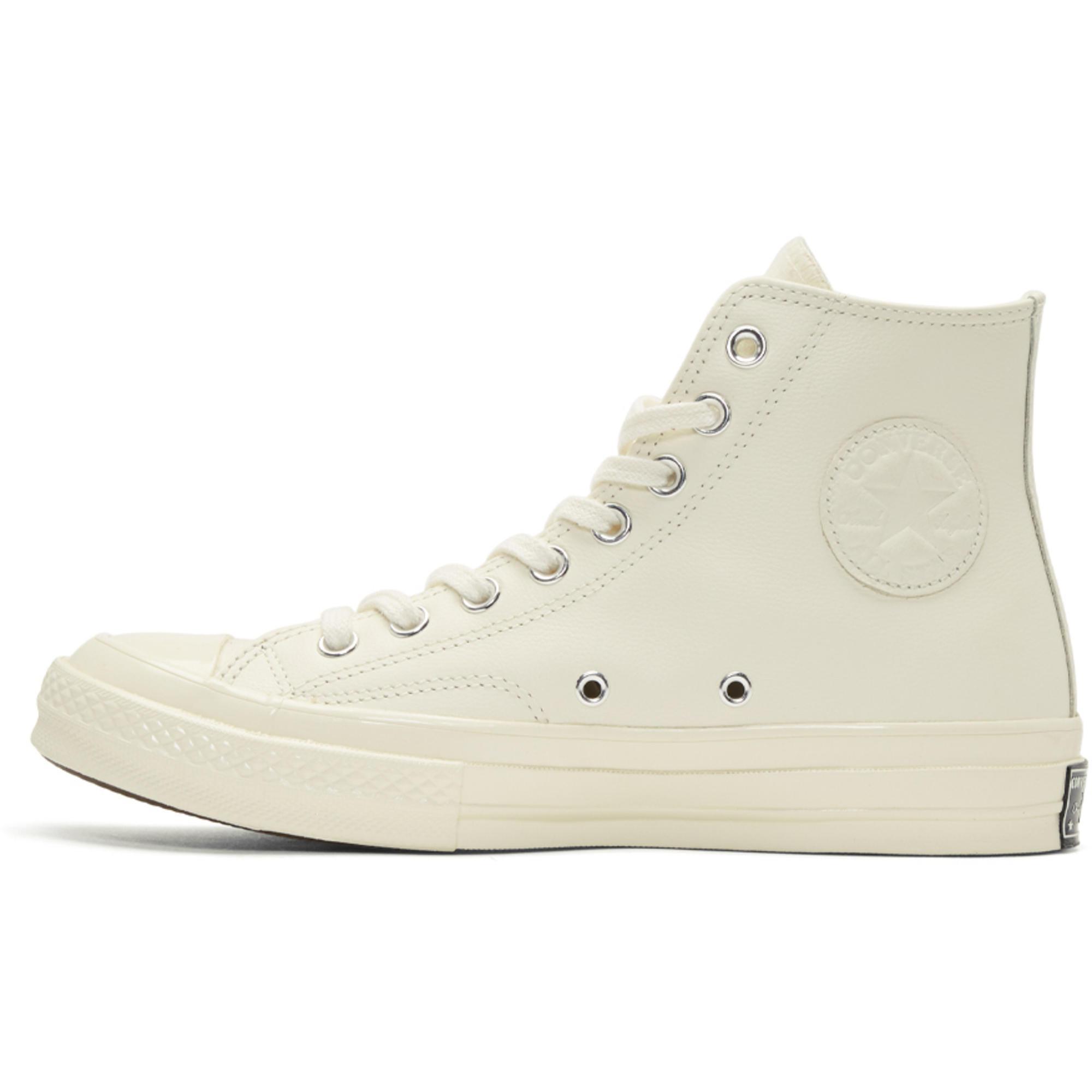 d4b7ea7f0a1d Lyst - Converse White Chuck Taylor All Star 70 Wordmark Wool High ...