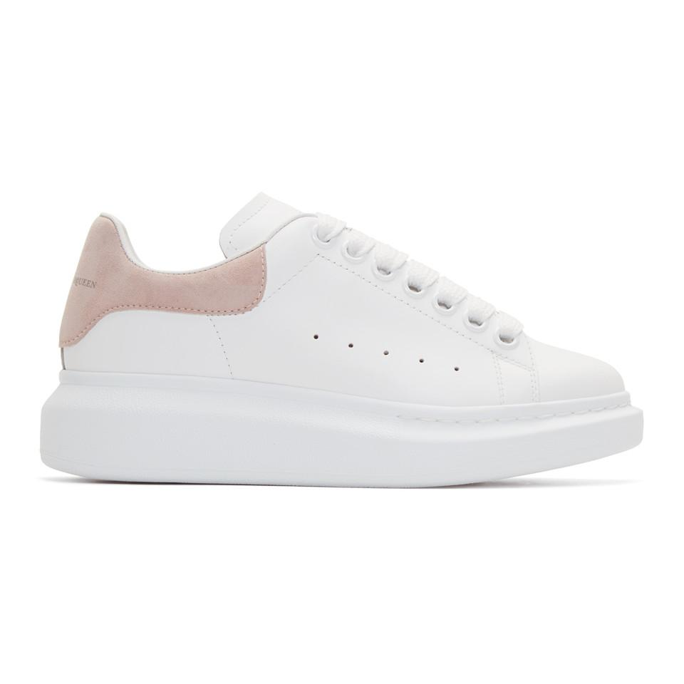 white alexander mcqueen trainers off