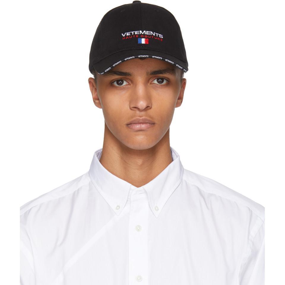 Haute Couture Cap In Black Vetements Vuzr1QdF