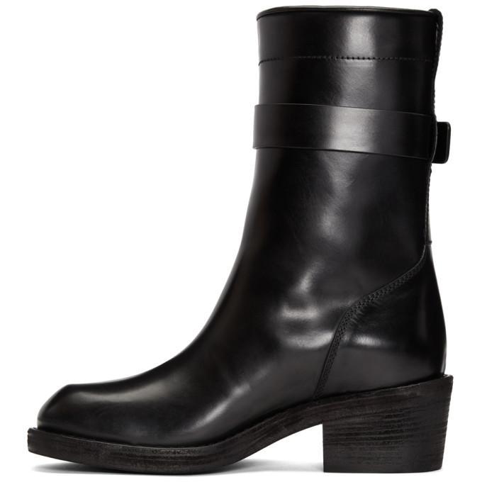 Haider Ackermann Dean Engineer Buckle Boots 2Hwkil