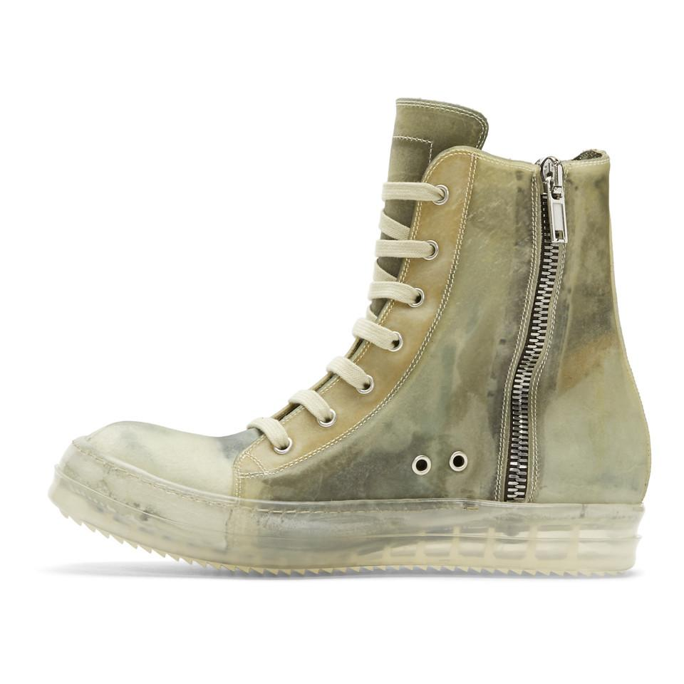Rick Owens Leather Green And