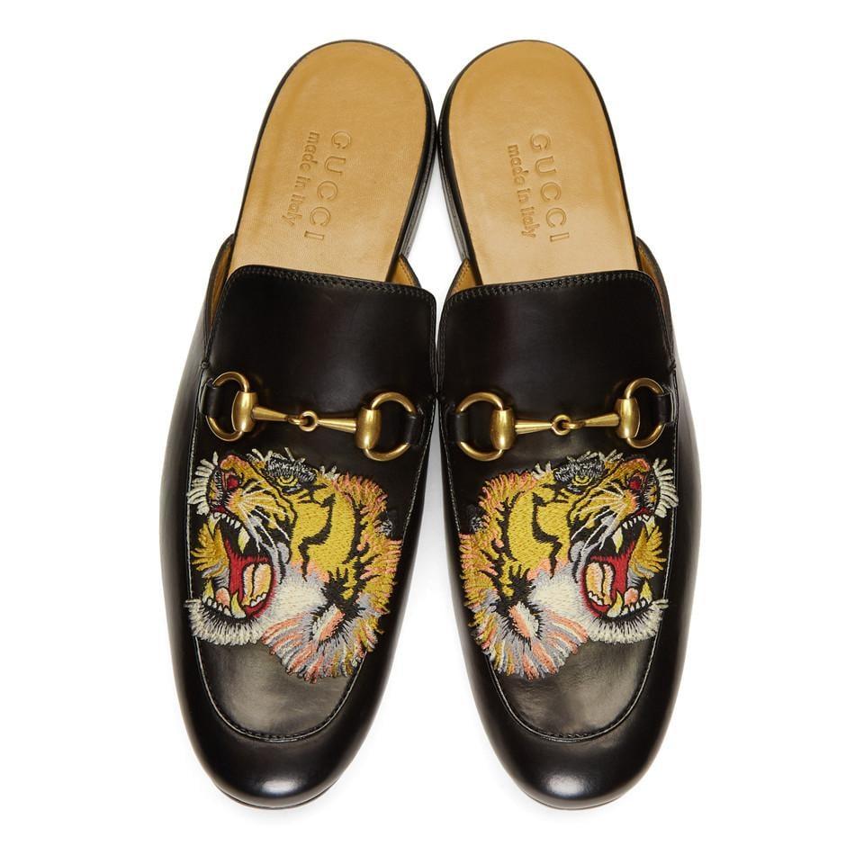 gucci princetown slipper tiger