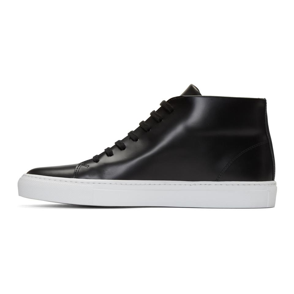 Common Projects Black New Court Mid-Top Sneakers ihXvA