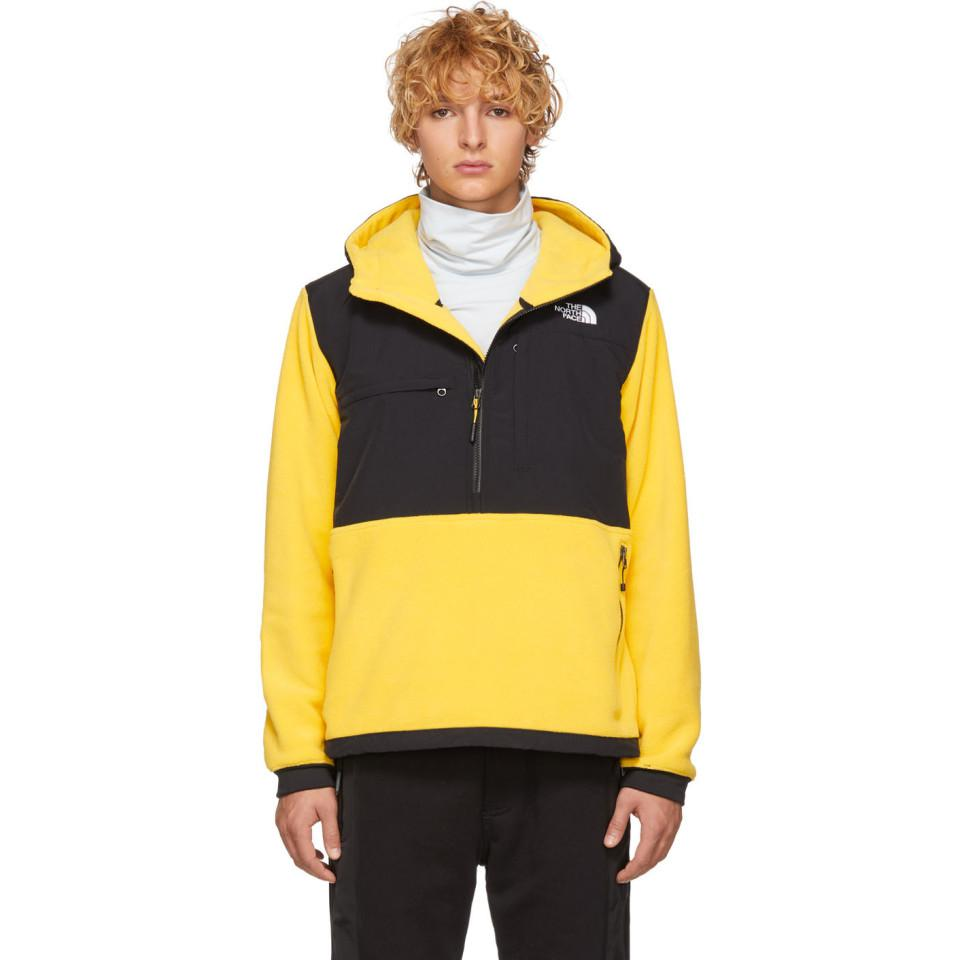 0f196793d The North Face Yellow And Black Denali Anorak Jacket for men