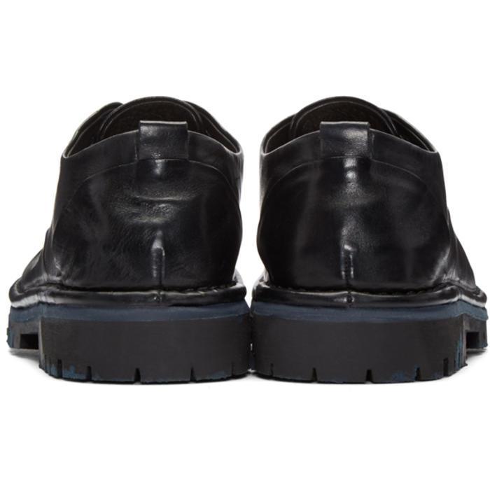 Marsèll Leather Black Santacco Derbys for Men