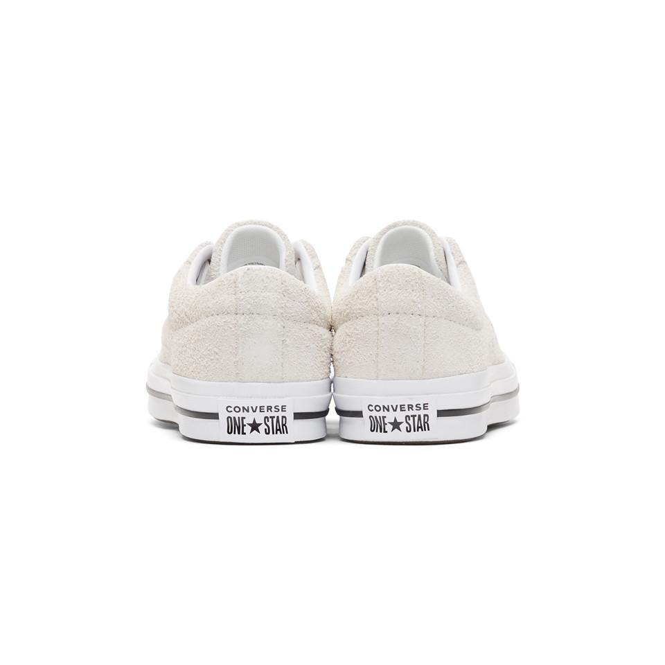 Baskets en suede blanc casse One Star OX Converse pour homme en coloris Blanc atVR
