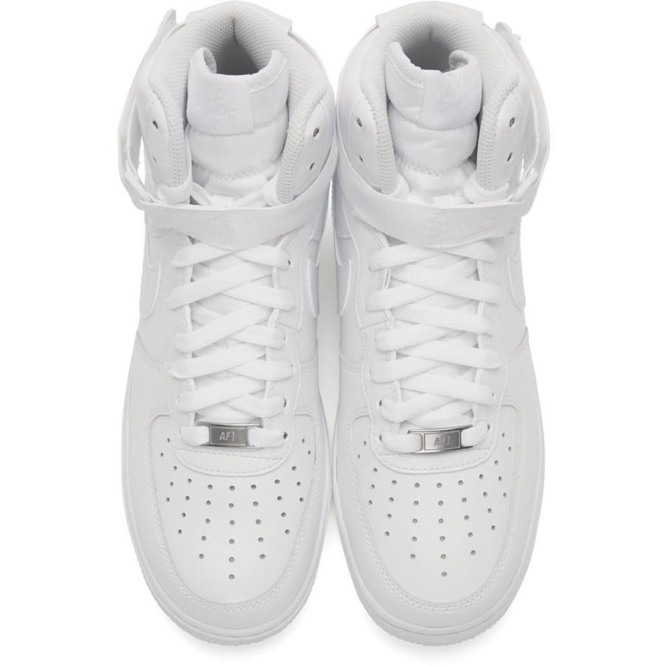 Baskets blanches Air Force 1 High 07 Cuir Nike pour homme en coloris Blanc LBKu