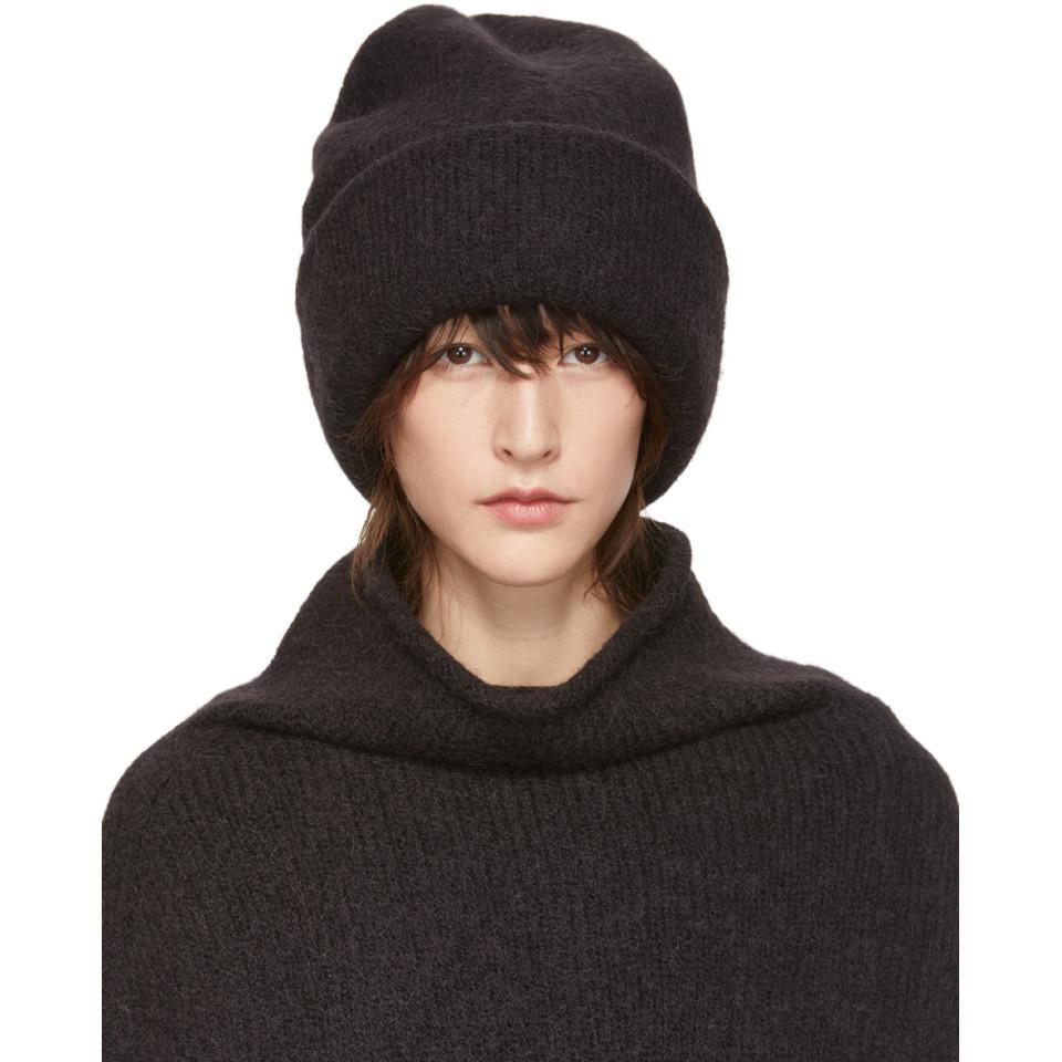 dd0f80c4c89 Lyst - Lauren Manoogian Black Alpaca Carpenter Beanie in Black