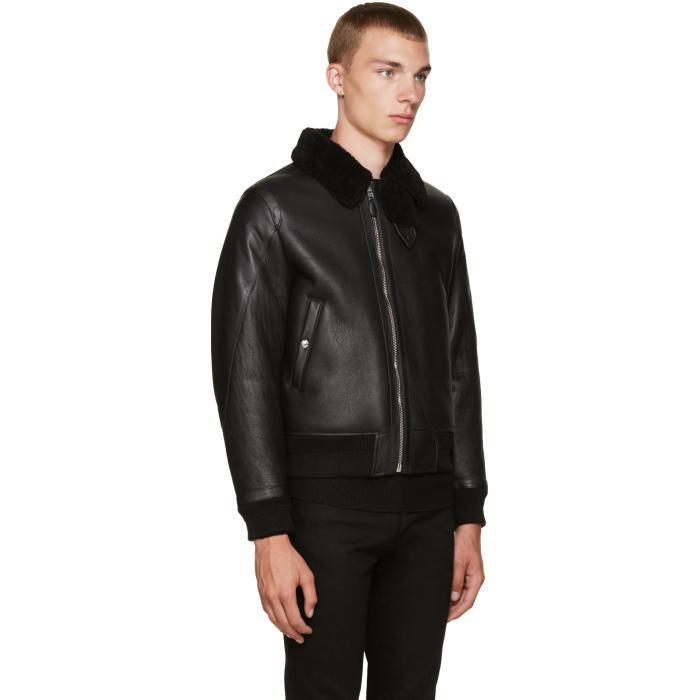 Givenchy Wool Black Shearling Jacket for Men