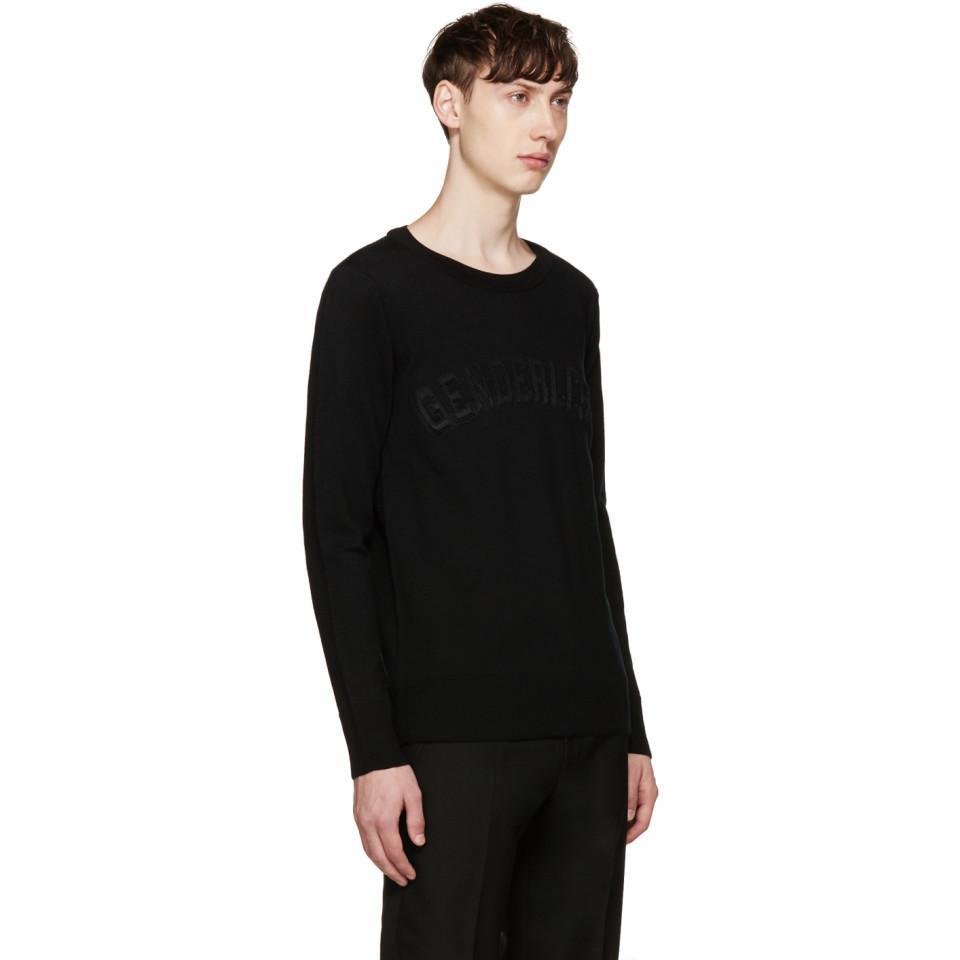 Juun.J Cotton 'genderless' Sweater in Black for Men