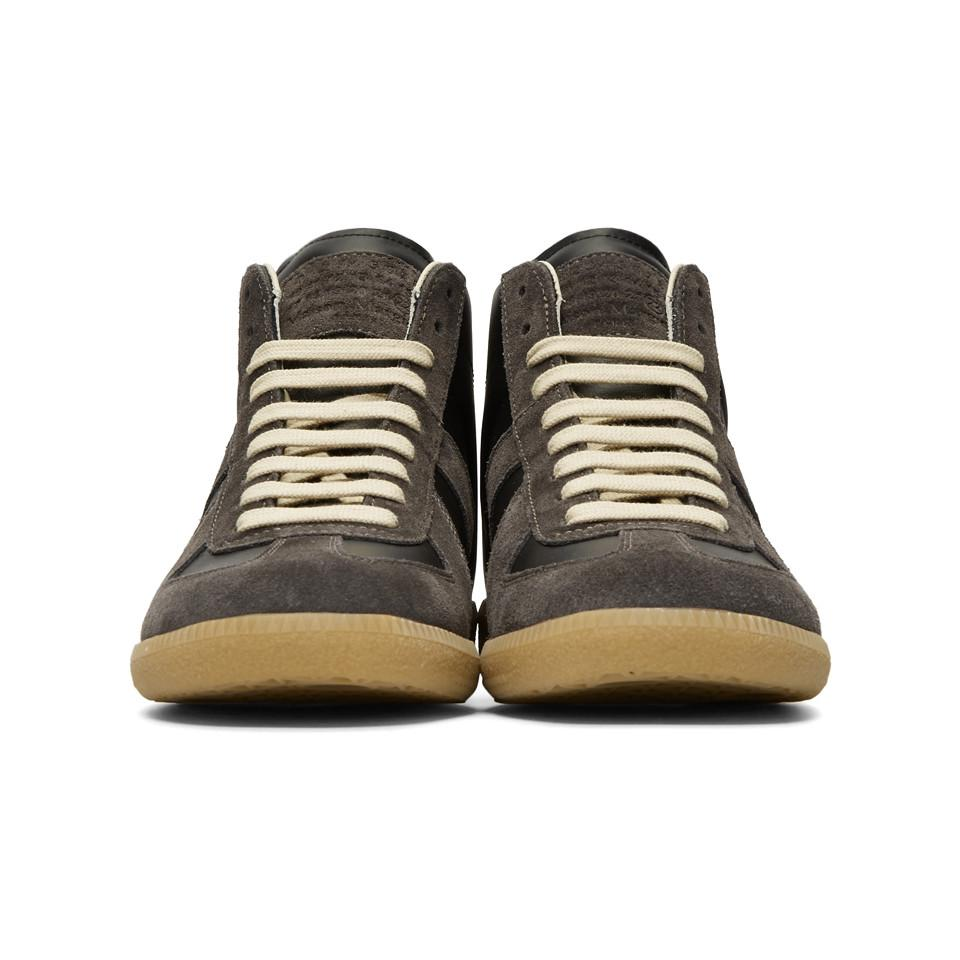 separation shoes b27d7 30a32 maison-martin-margiela-black-Black-And-Brown-Classic-Mid-Sneakers.jpeg