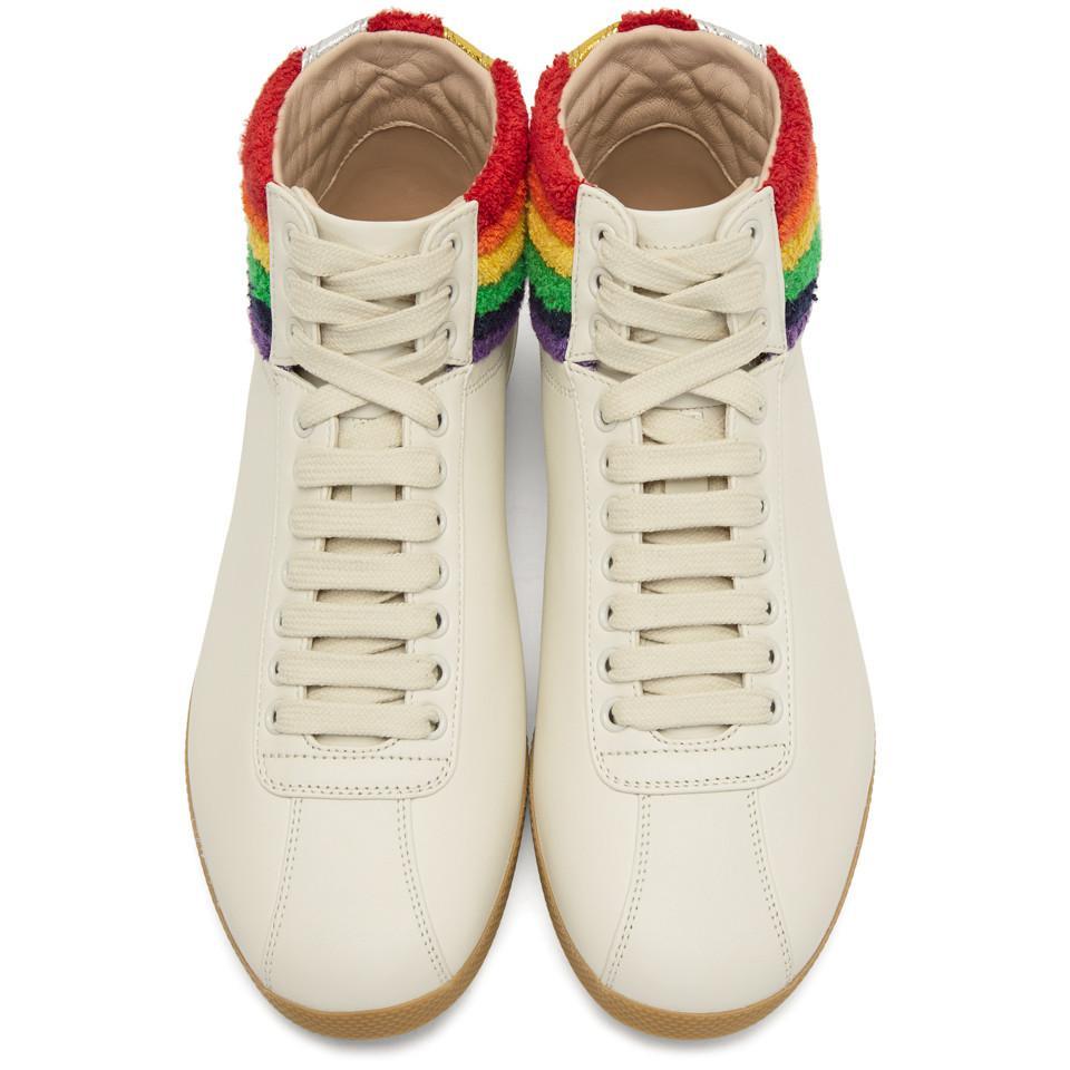 gucci rainbow high tops