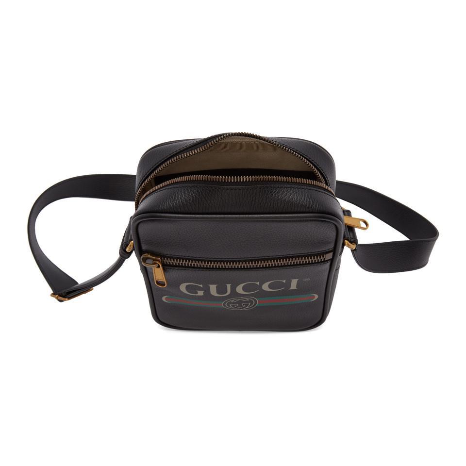 b5ee4781ce1e Gucci - Black Vintage Logo Messenger Bag for Men - Lyst. View fullscreen