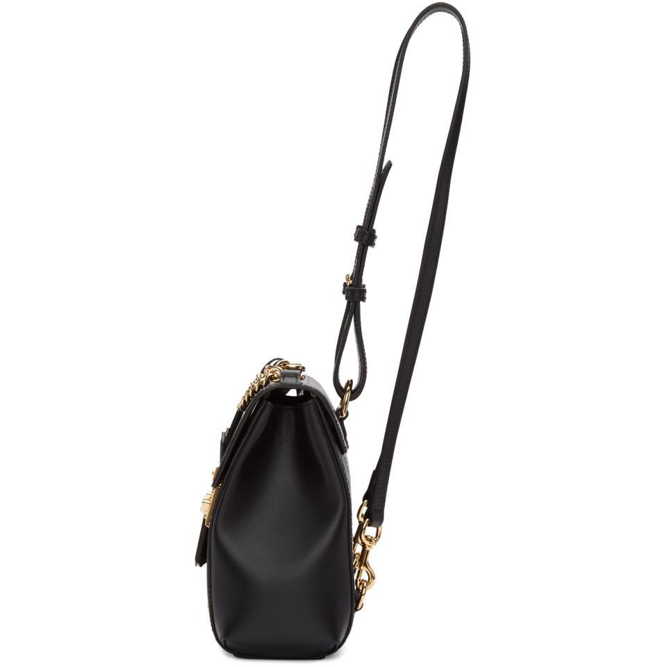 b53e370da2f Lyst - Gucci Black Zaino GG Padlock Backpack in Black