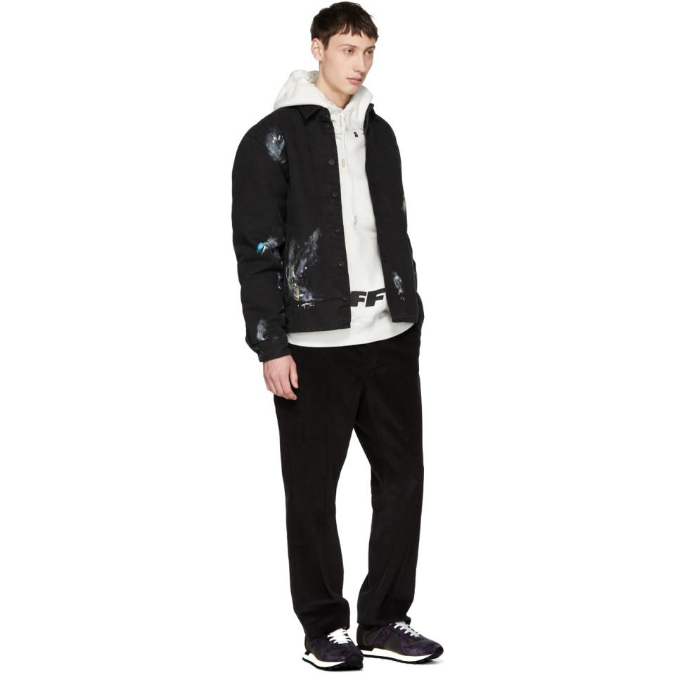 22e54ad4c23f Lyst - Pull a capuche blanc casse Wing Off Logo Off-White c o Virgil ...