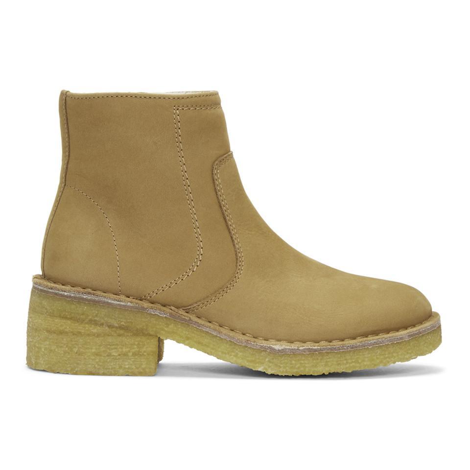 Tan Ariette Boots A.P.C. JJC37KBHp