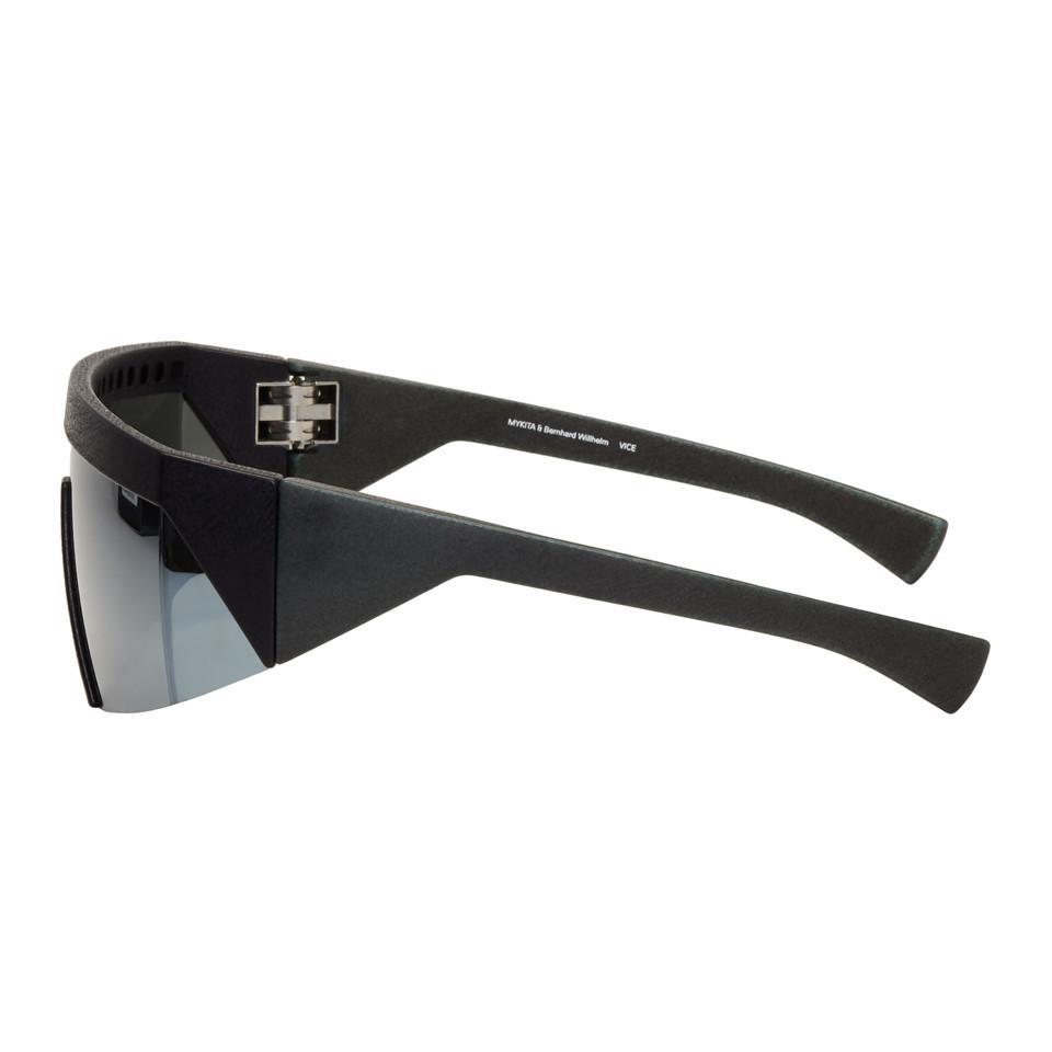 2cd0603c58 Lyst - Mykita Black Bernhard Willhelm Edition Vice Mm7 Sunglasses in ...
