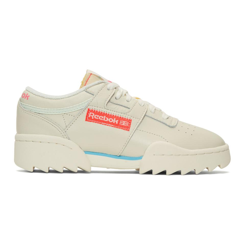 Reebok Leather Off-white Workout Ripple