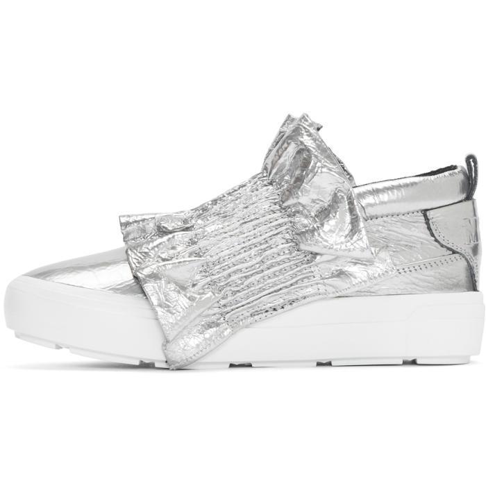 Msgm Metallic Ruffle Slip-On Sneakers xbin9