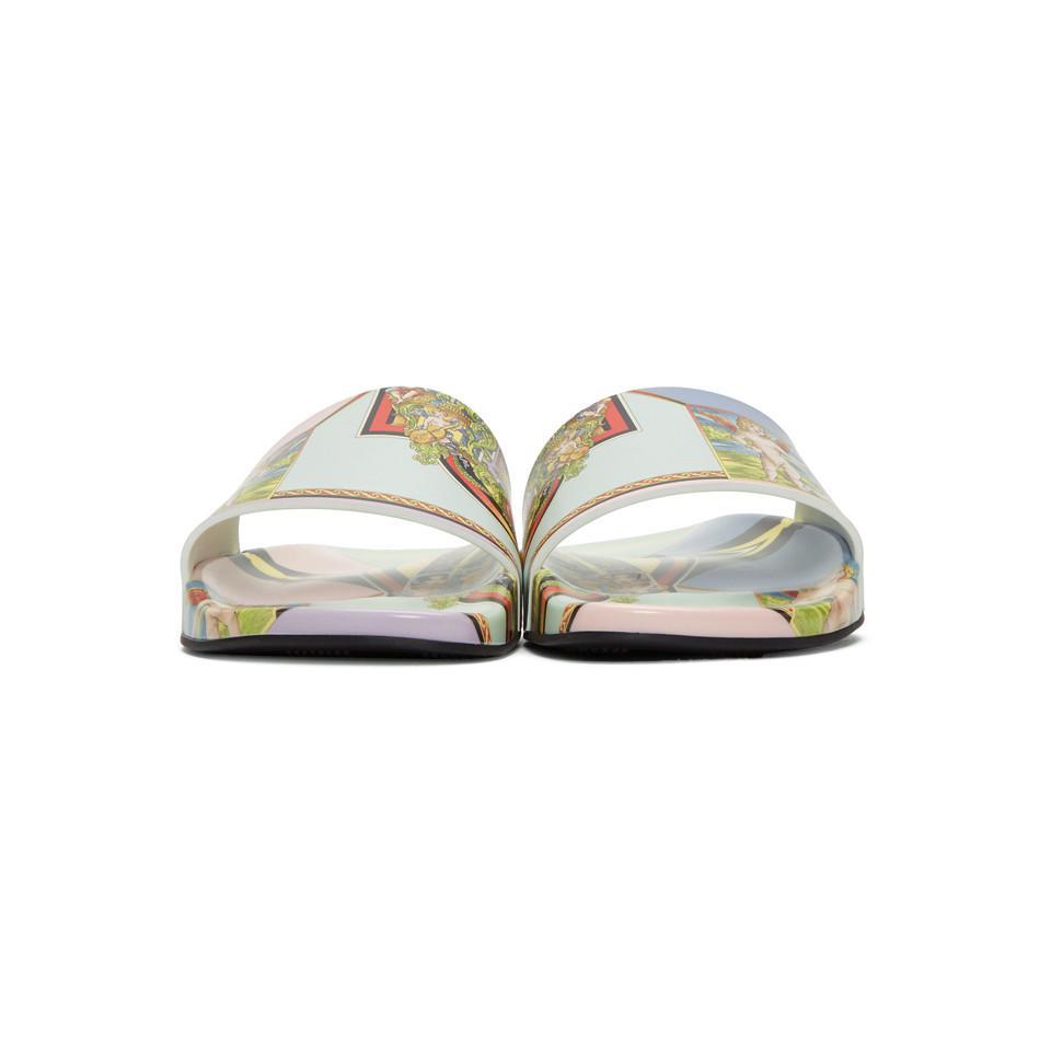Versace Multicolor Angel Slides for men