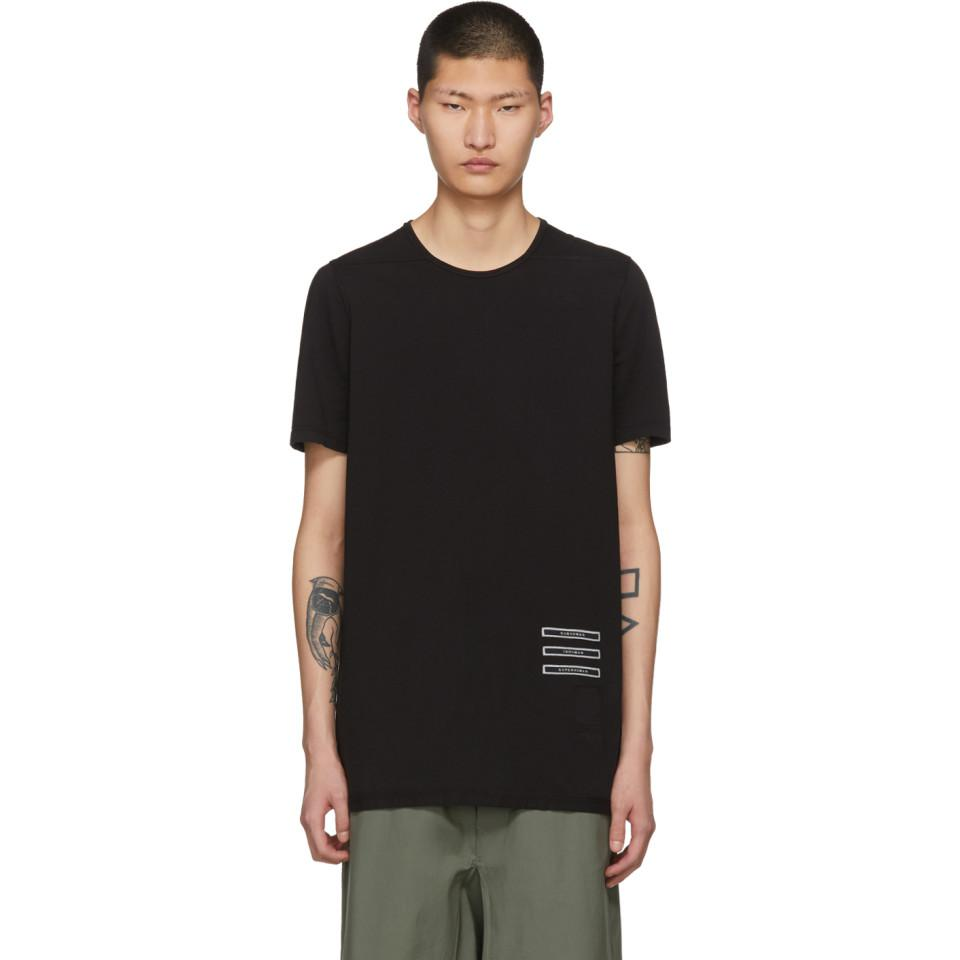 fd8239b21 Rick Owens Drkshdw Black Text Patch Level T-shirt in Black for Men ...