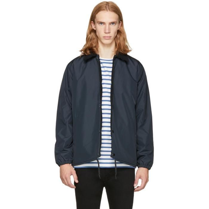 Levi's Synthetic Black Sherpa Coach's Jacket for Men - Lyst