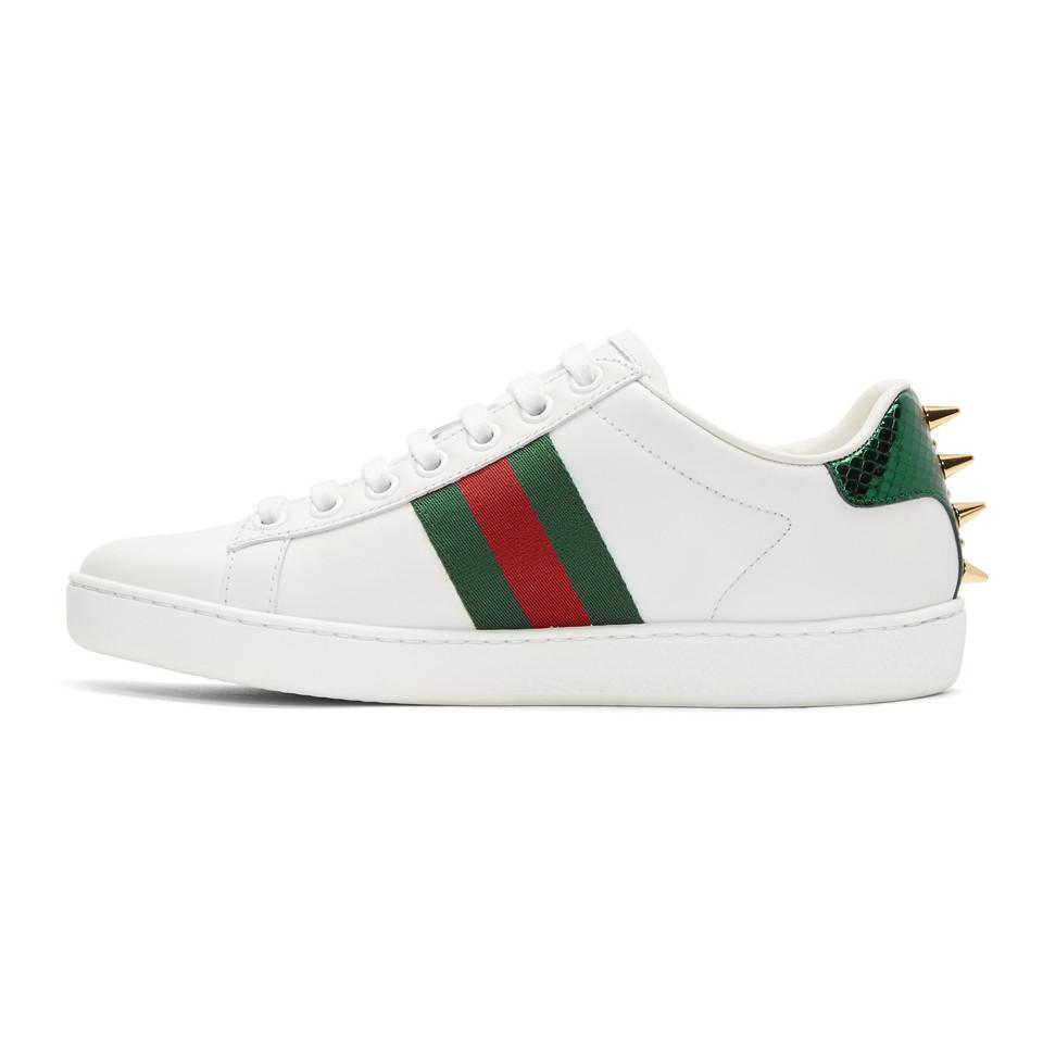 9bdcde30734 Gucci - White Pearl Stud New Ace Sneakers - Lyst. View fullscreen