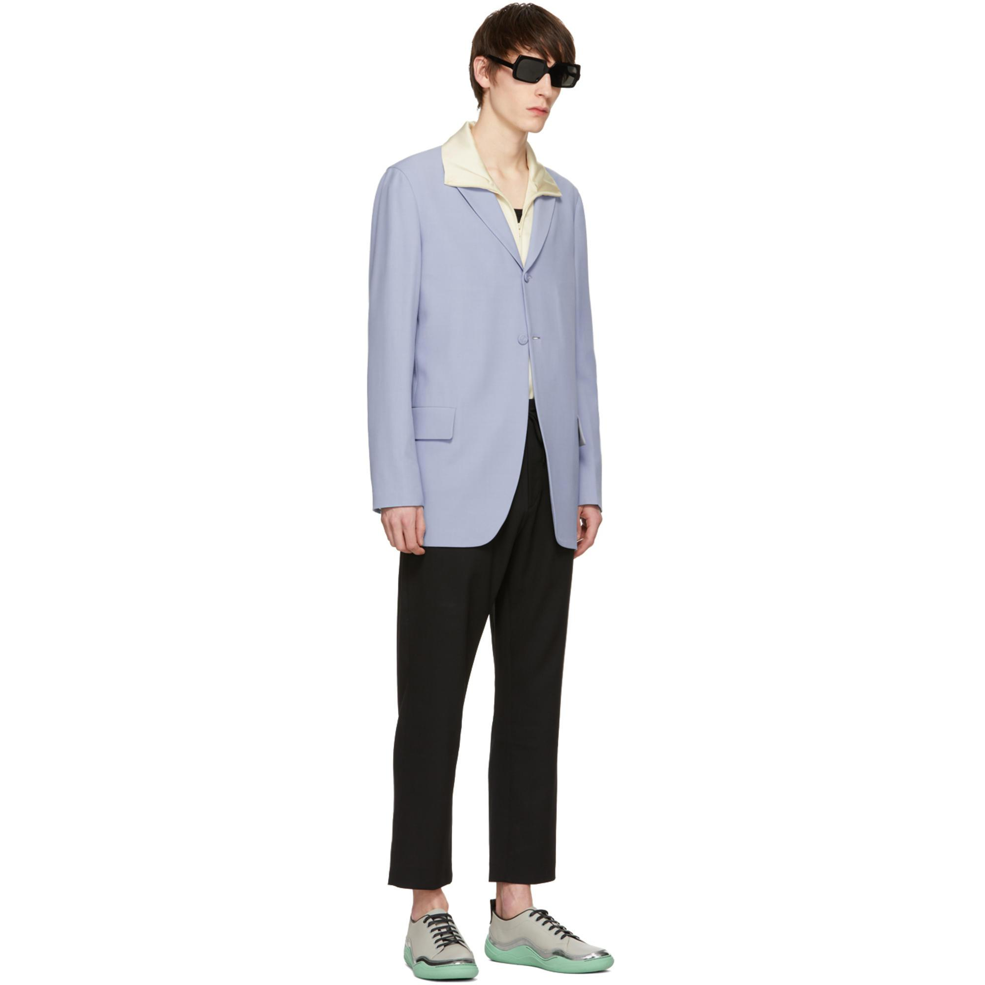 Cmmn Swdn Satin Ivory Bret Track Jacket in White for Men