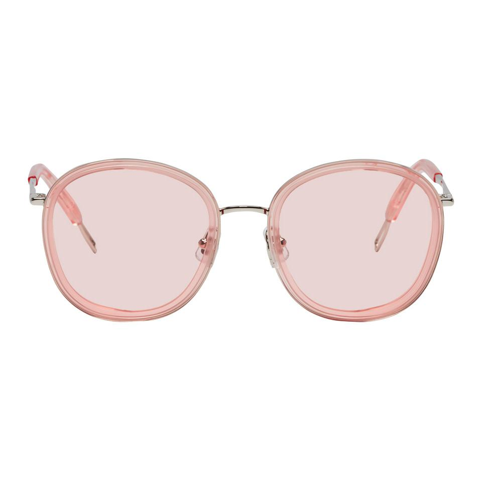 70e4bd5ded Lyst - Gentle Monster Pink And Silver Ollie Sunglasses in Pink