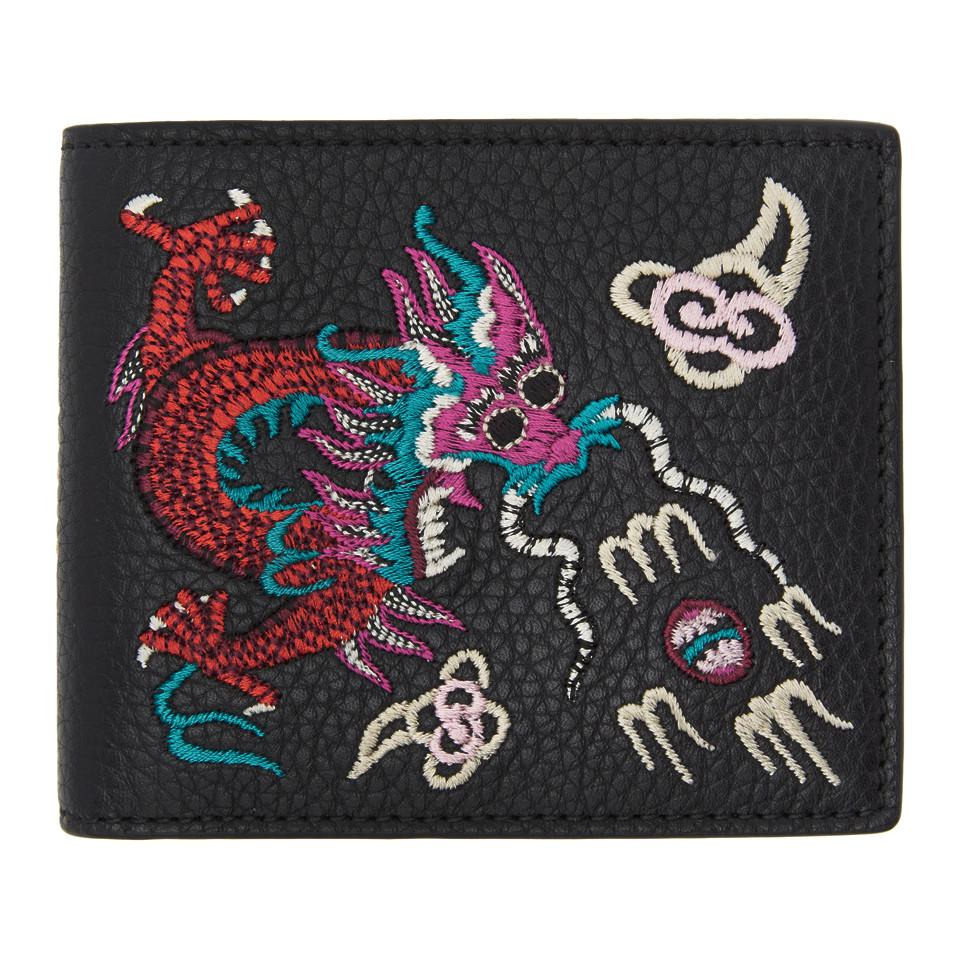 ebe87c2e61d Lyst - Gucci Black Chinese Dragon Wallet in Black for Men