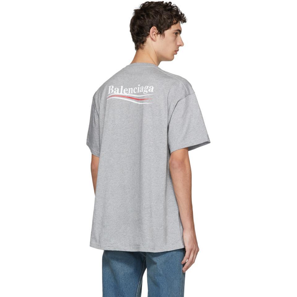 Grey Campaign Logo T-shirt