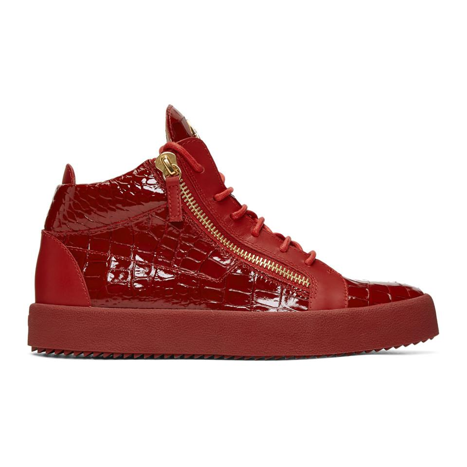 Giuseppe Zanotti Patent May London High-Top Sneakers PzHGQ