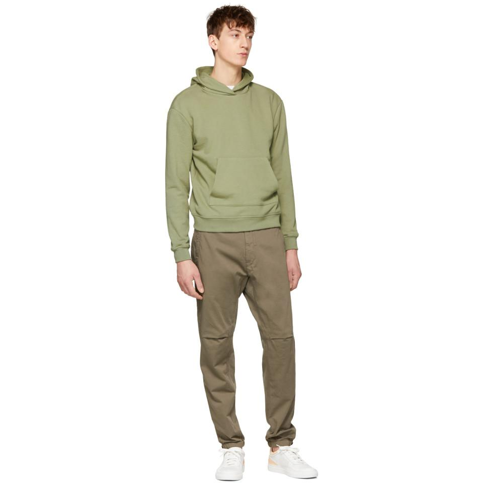 Stone Island Cotton Green Drawstring Trousers for Men