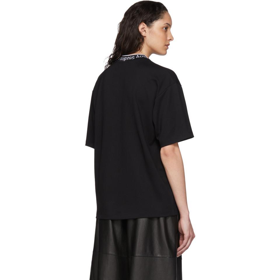 Acne Studios Synthetic Crew Neck T-shirt black for Men - Lyst