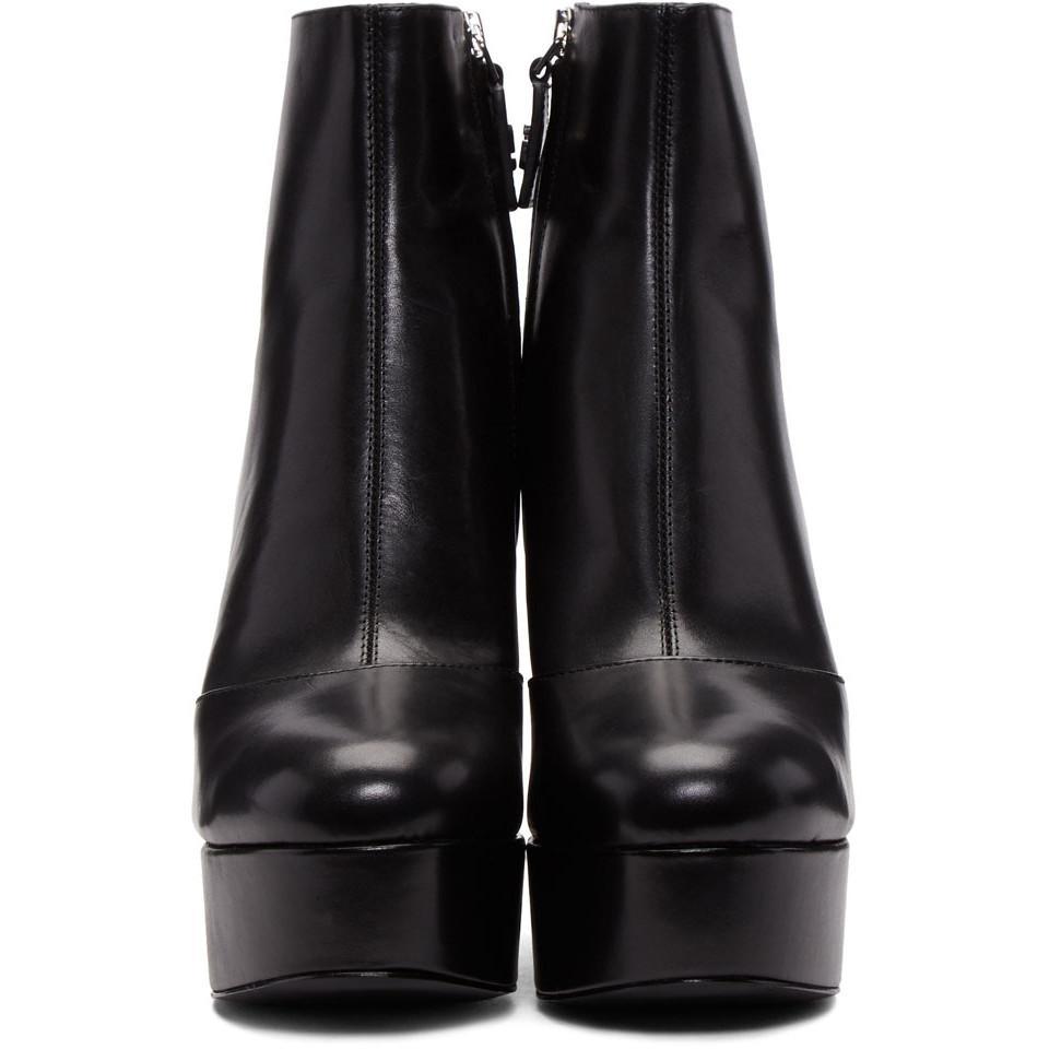 3875e2108e4e Lyst - Marc Jacobs Black Amber Platform Boots in Black