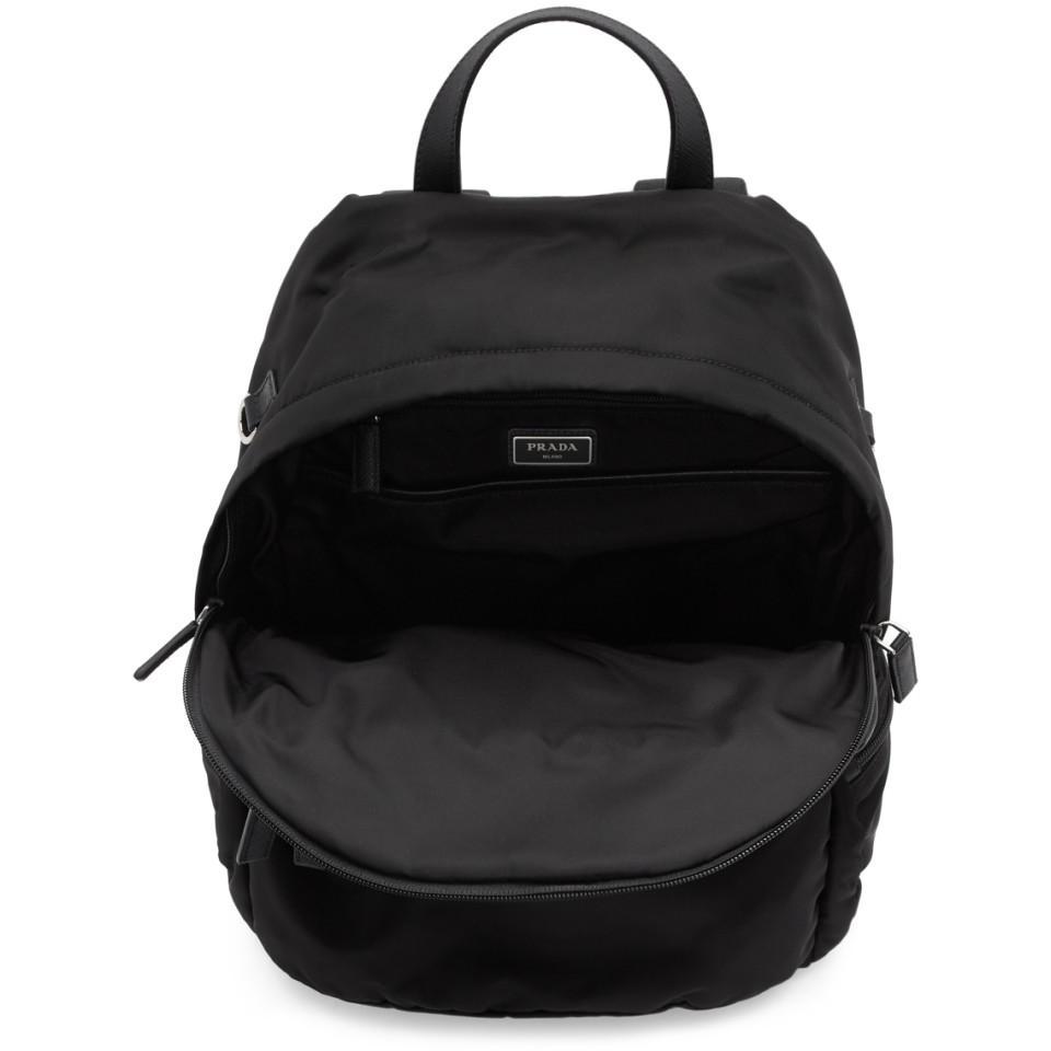 423836d444c4 Prada - Black Montagna Backpack for Men - Lyst. View fullscreen